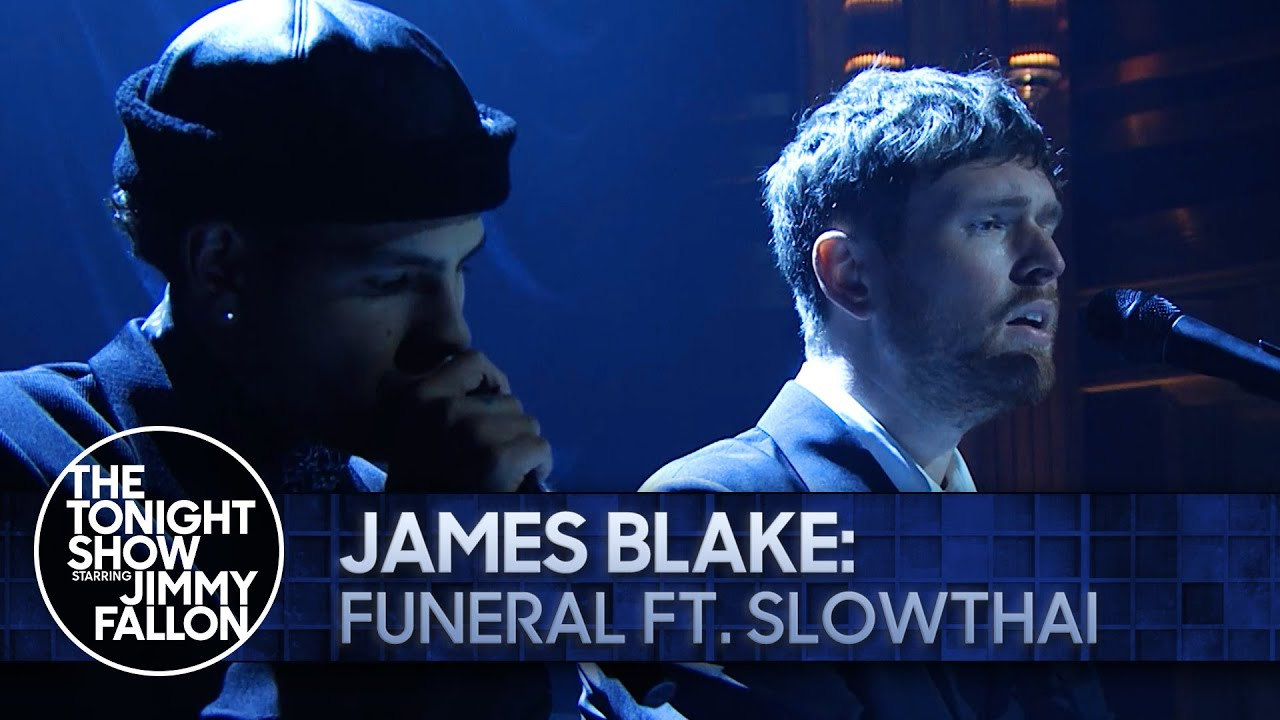 """James Blake & Slowthai Team Up For New Version Of """"Funeral"""" & Perform It On Fallon"""