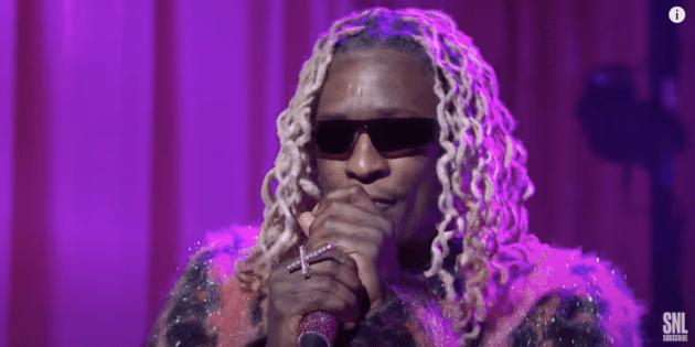 "Young Thug ""Tick Tock"" + ""More Than Anything"" On SNL"
